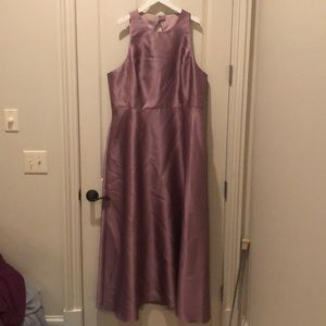 Dessy Alfred sung bridesmaid dress